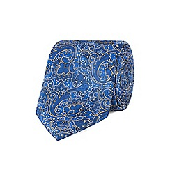 Stvdio by Jeff Banks - Blue intricate floral tie