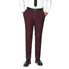 Shelby & Sons - Mull burgundy herringbone trouser