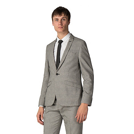 6bebef99cb Shelby   Sons Skye black white check suit-