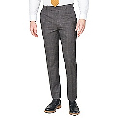 Hammond & Co. by Patrick Grant - Brown teal check tailored trousers