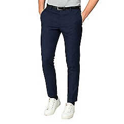 Red Herring - Midnight navy fleck skinny fit trousers