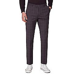 Ben Sherman - Rust chambray check skinny trousers