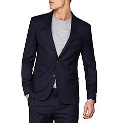 Ben Sherman - Navy rust structure skinny jacket