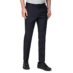 Ben Sherman - Navy rust structure skinny trousers