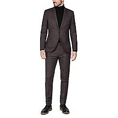Ben Sherman - Rust speckle wool blend slim jacket