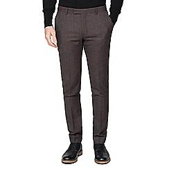 Ben Sherman - Rust speckle wool blend slim trousers