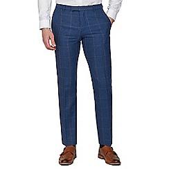 Racing Green - Blue Heritage Tweed Tailored Trousers