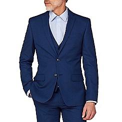 The Collection - Blue Semi Plain Regular Fit Jacket