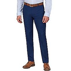 The Collection - Blue Semi Plain Regular Fit Trouser