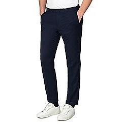 Red Herring - Navy Slim Fit Half Elasticated Waist Formal Trousers