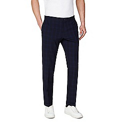 Red Herring - Navy Check Slim Fit Formal Trousers