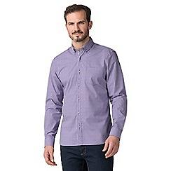 Jeff Banks - Jeff banks purple dobby gingham shirt