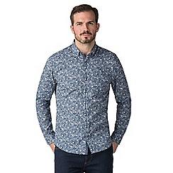 Jeff Banks - Jeff banks navy floral burst print shirt