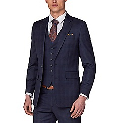 Hammond & Co. by Patrick Grant - Navy Tonal Check Tailored Suits Jacket