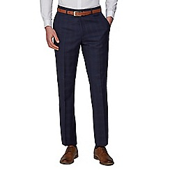 Hammond & Co. by Patrick Grant - Navy Tonal Check Tailored Suits Trousers