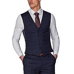 Hammond & Co. by Patrick Grant - Navy Tonal Check Waistcoat