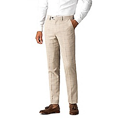 Marc Darcy - Harding cream tweed style check trousers a8619a4f3e04