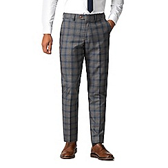 Marc Darcy - Logan grey with blue overcheck trousers