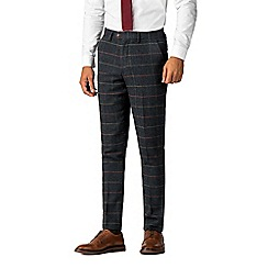 Marc Darcy - Eton navy tweed style check trousers 6100389d106a