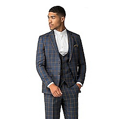 Marc Darcy - Roman blue windowpane check suit 00136ee26bee