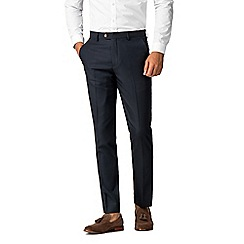 Marc Darcy - Max navy diamond textured trousers
