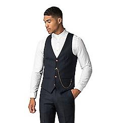Marc Darcy - Max navy diamond textured waistcoat