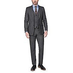 Hammond & Co. by Patrick Grant - Grey With Caramel Overcheck Tailored Fit Suit Jacket