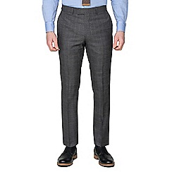 Hammond & Co. by Patrick Grant - Grey With Caramel Overcheck Tailored Fit Suit Trouser