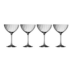Galway Living - Erne set of four champagne saucers