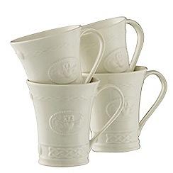 Belleek Living - Claddagh set of four mugs