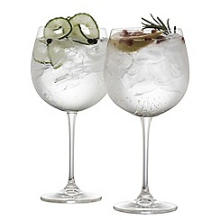 Galway Crystal - Set of 2 crystal gin glasses