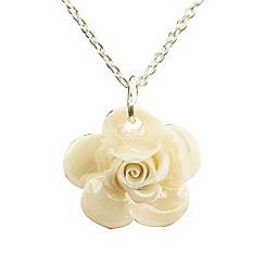Belleek Living - Ivory rose necklace