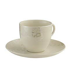 Belleek Living - Evermore 4 teacups & saucers set