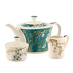 Belleek Living - Bellevue teapot sugar & cream set