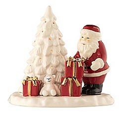Belleek Living - Santa and Christmas tree votive
