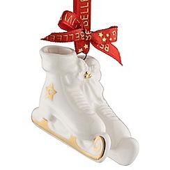 Belleek Living - Ice skates mini Christmas tree decoration