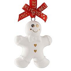 Belleek Living - Ginger bread man mini Christmas tree decoration