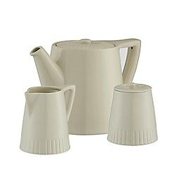 Belleek Living - Atlantic teapot sugar & cream set