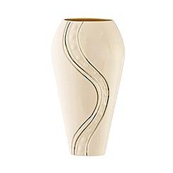 Belleek Living - Ivory 'Silver Ripple' 12 Inch Vase