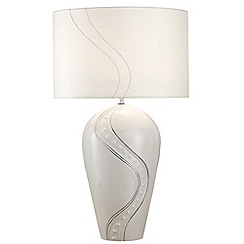 Belleek Living - Ivory 'Silver Ripple' Lamp