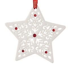 Belleek Living - Pierced Star Christmas tree decoration