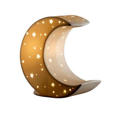Belleek living crescent moon luminaire lamp