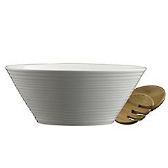 Belleek Living - Ripple salad bowl and servers