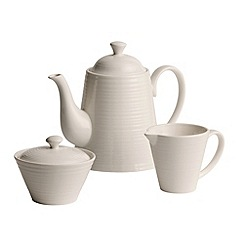 Belleek Living - Ripple three piece tea set