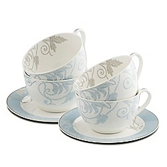 Belleek Living - Novello set of four teacups and saucers