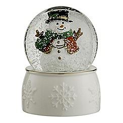 Belleek Living - Snowman Snowglobe