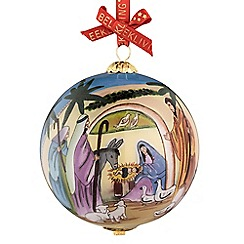 Belleek Living - Nativity glass bauble