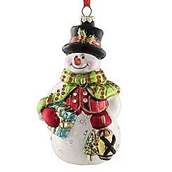 Belleek Living - Snowman glass Christmas tree decoration