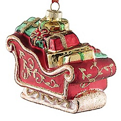 Belleek Living - Sleigh glass Christmas tree decoration
