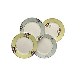 Aynsley China - Set of 4 Archive Rose Plates